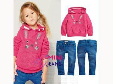 GS1155, @150k, Bahan : Baby terry, Jeans.  Warna : Pink.  Ket : Untuk anak usia sekitar 1 - 6 tahun.          Celana pinggang karet.          Motif bordir Pemesanan sms / wa 082328384495