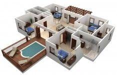 Best Free Floor Plan Software With Beautiful Outdoor Pool Design