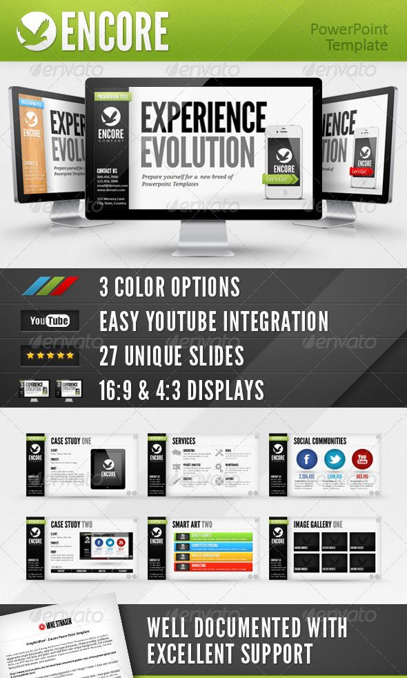 Encore Powerpoint Template - GraphicRiver Item for Sale