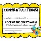 Use this to reward kids for earning a certain number of points in your classroom....