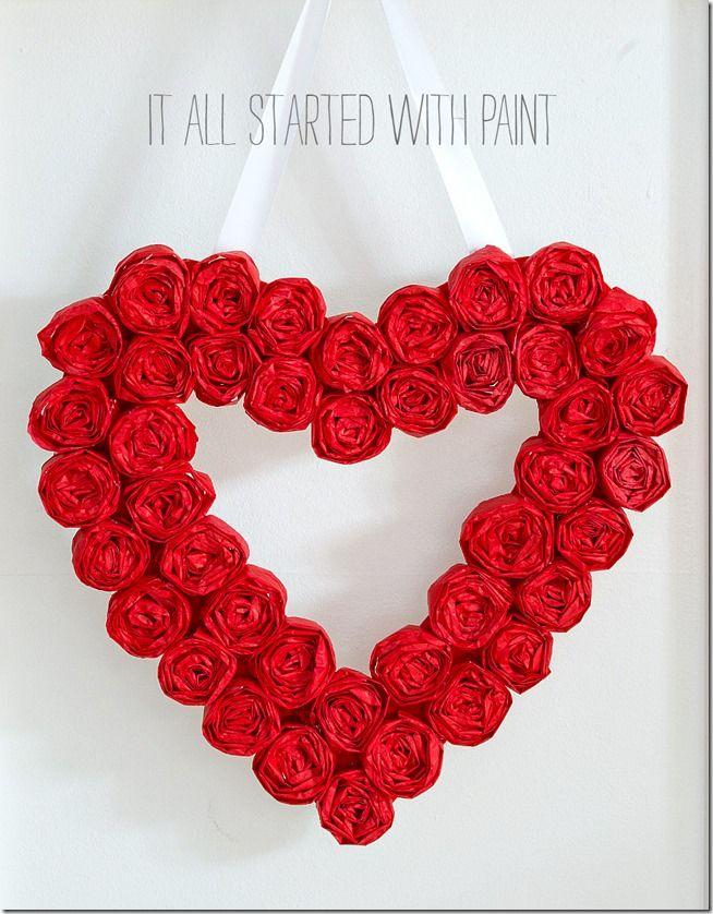 valentine wreath craft idea for valentines day - 654×838