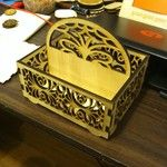 "lasercut box 8"" x 8"" square"