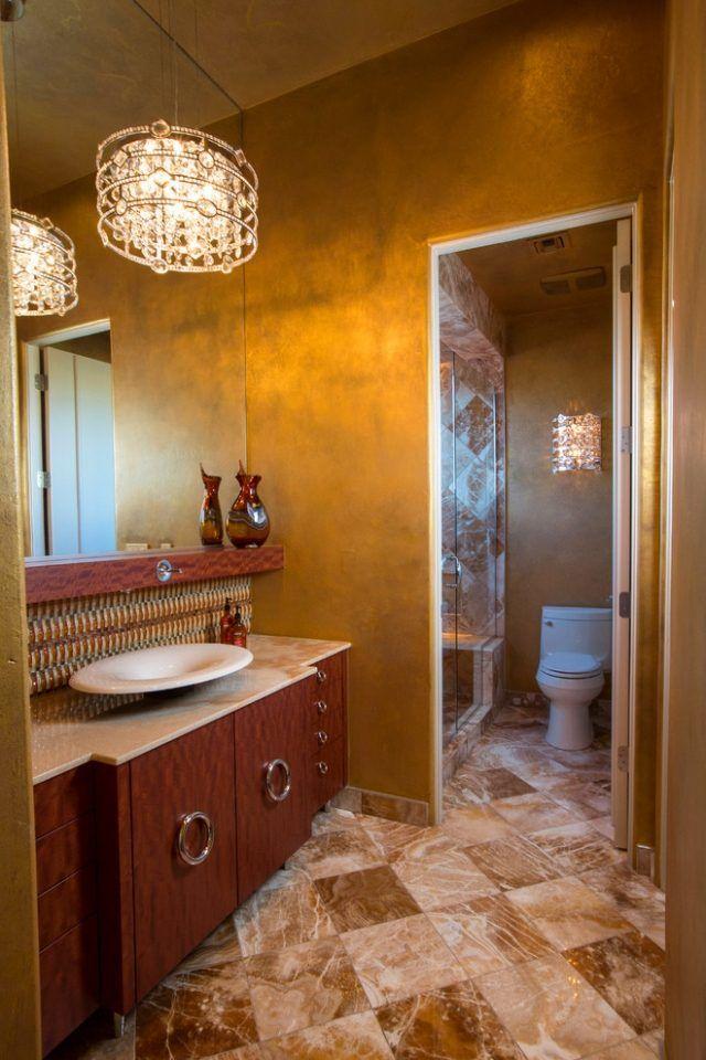 Wandgestaltung Mit Farben Ideen In Gold Und Goldnuancen Wandfarbe Wandfarbe Gold Wandgestaltung