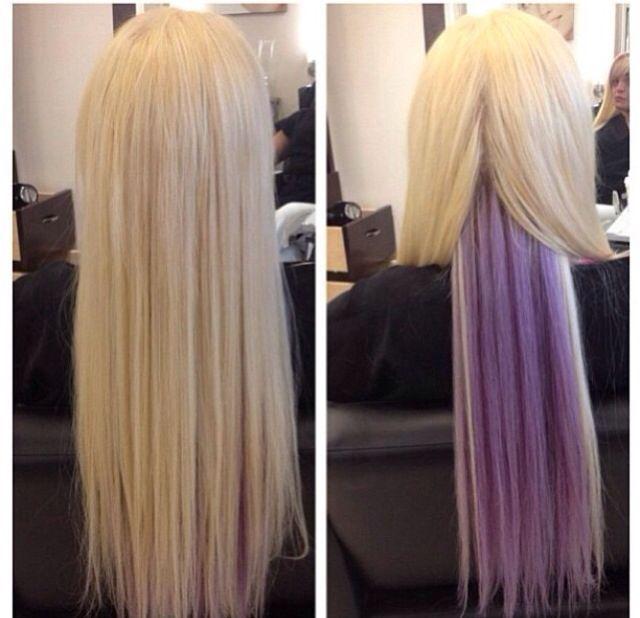 Lavender highlights blonde - Google Search | hair. | Pinterest | Lavender highlights Lavender ...