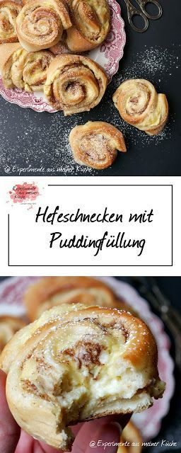 Hefeschnecken with pudding filling   – Experimente aus meiner Küche – #aus #Exp…