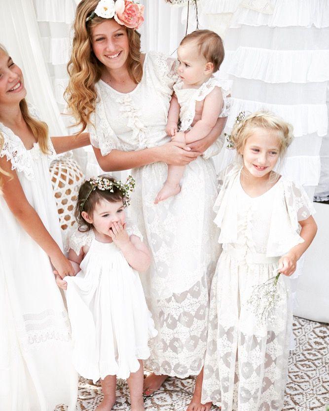 Girls vintage dresses by Tea Princess  perfect for family photos, weddings, flowergirls, communion
