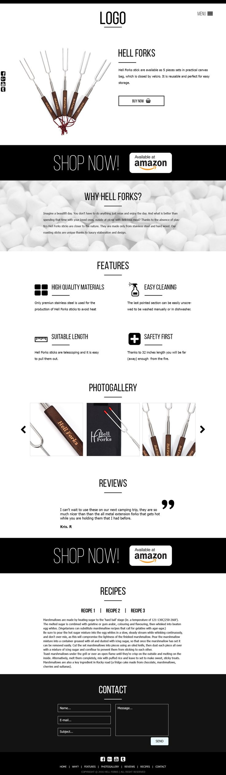 Onepage produktová webová stránka s menu. Made with ♥ in Brno by Steiner Media