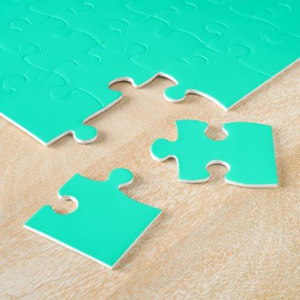 Sea Green Color Jigsaw Puzzle - home gifts ideas decor special unique custom individual customized individualized