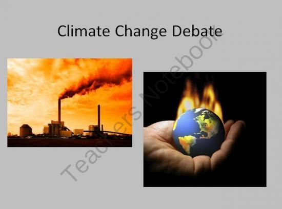 Climate Change Debate - High School Science from Teach With Fergy on TeachersNotebook.com (2 pages)  - Climate change is a very controversial topic in many circles.  Although there is much evidence for current climate change, the cause of this is still very much up for debate.  What I've created here is a means for the students to explore both sides o