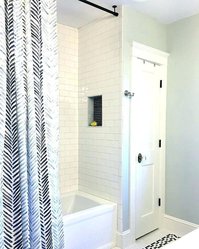 standard shower curtain rod height