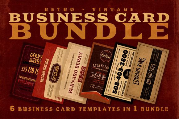 Check out SALE: 6Retro Business Cards 60% Off by JumboDesign on Creative Market