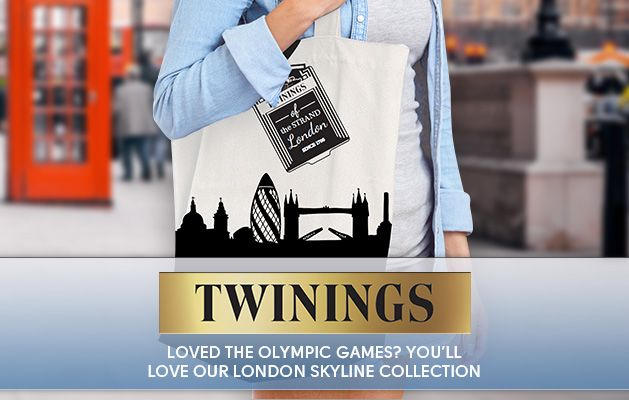 Free Twinings London Skyline Bag when you buy the London Skyline Tea Collection x