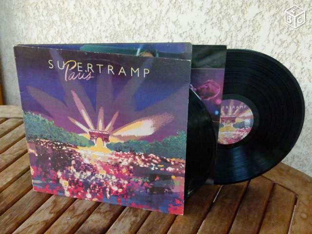 """2 Vinyls SUPERTRAMP """" Paris """" #chrisdeparis 12€"""