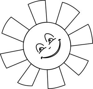 Soleil Dessin Au Trait