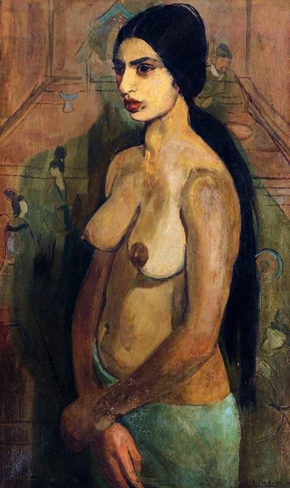 Amrita Sher-Gil (1913 – 1941, Hungarian-born Indian) - Self portrait -