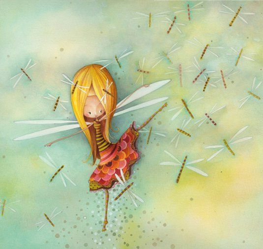 La fille libellule Ketto's dragonfly girl by Ketto Design, via Flickr