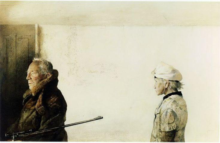 Andrew Newell Wyeth (1917-2009) . Акварель и темпера.