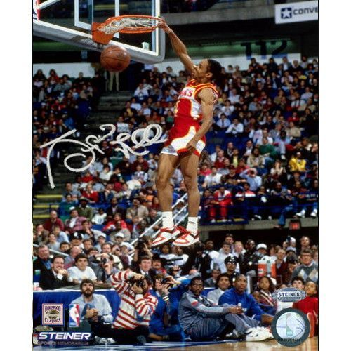 Spud Webb Signed Slam Dunk Contest 8x10 Photo - Spud Webb has personally signed this Dunk Contest 8x10 Photo-Spud Webb is most noted in winning the Slam Dunk Contest in 1986. Despite being one of the shortest players in NBA history he was never short of being an exciting player. This Spud Webb autograph is perfect for any basketball fan. This Spud Webb autograph is Guaranteed Authentic by Steiner Sports and include a Steiner Sports Certificate of Authenticity and an accompanying tamper-proof…