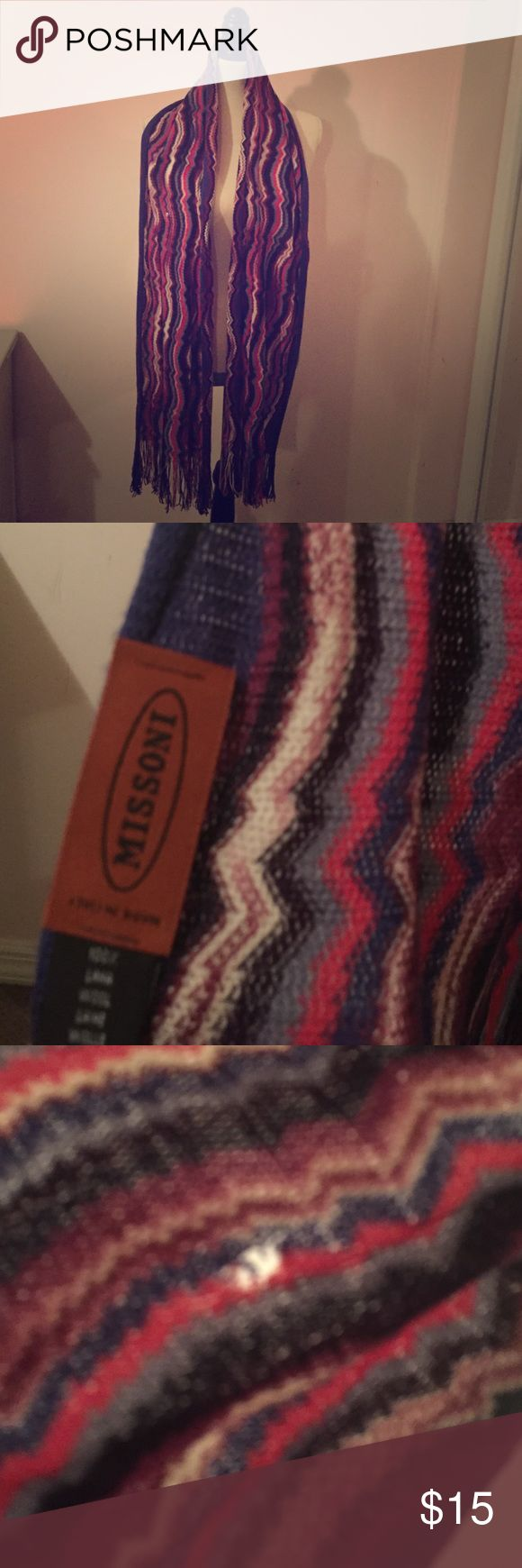 Missoni scarf Multi colored Missoni scarf does have some moth damage Missoni Accessories Scarves & Wraps