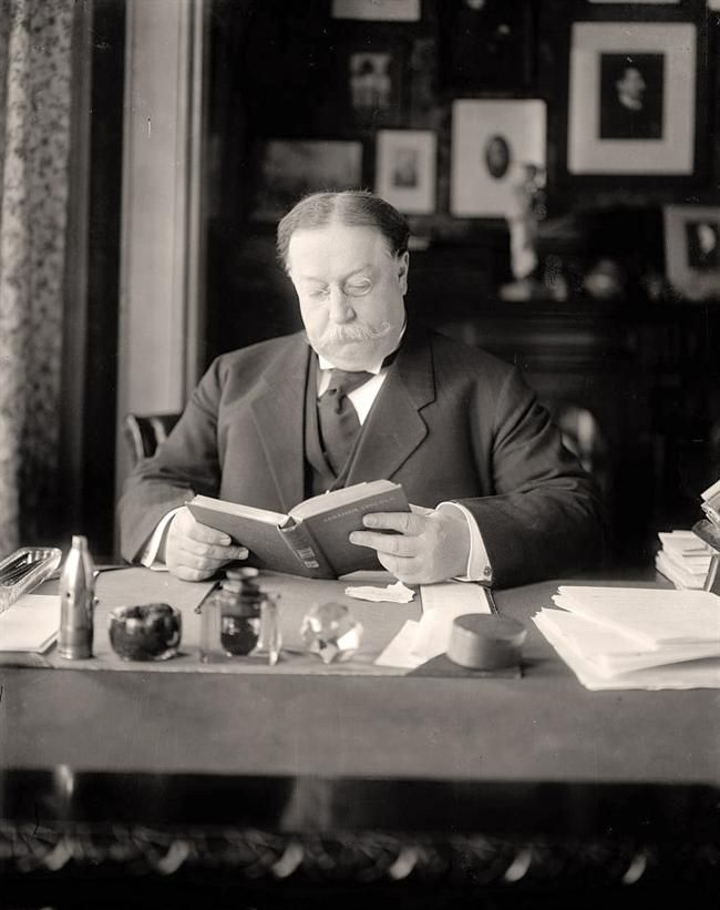 President Taft Reading - fattest president ever. Isn't that something to be in the history books?