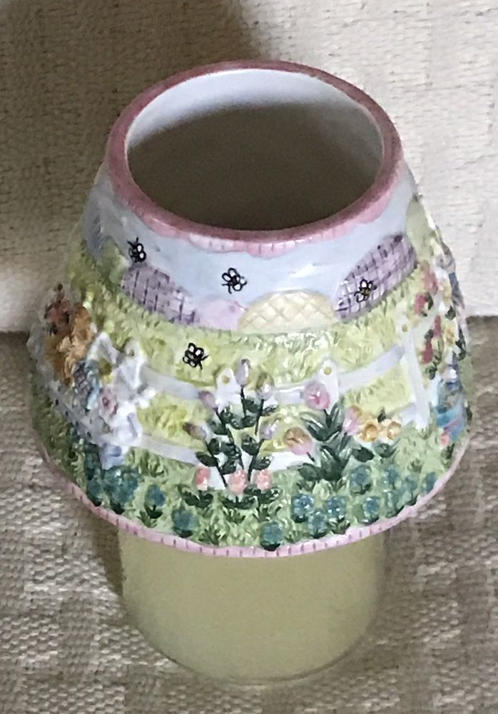 Yankee Candle Spring Flowers Easter Rabbit Small Jar Shade Topper Raised Design  | eBay