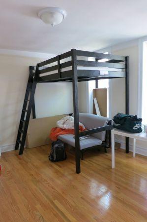 ikea stora black double bed