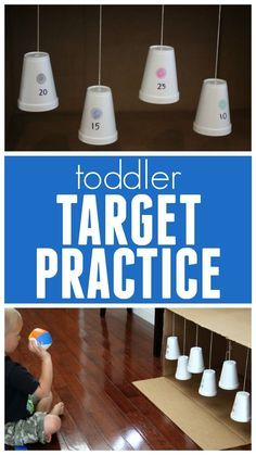 Fun target practice game! This could be used to practice so many things: addition, colors, letters in a name...