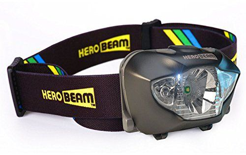 Lampe Frontale à LED HeroBeam – Meilleure Lampe Frontale pour Courir, Promener son Chien, Pêcher, Faire du vélo, Observer la nature, Lire…