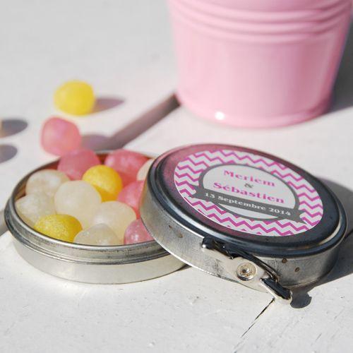 Boîte à clé personnalisée contenant à dragées ou bonbons