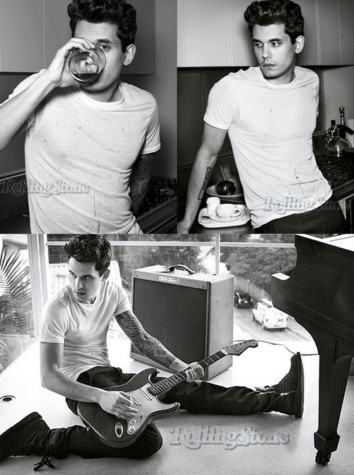 John Mayer in Rolling Stones... he's been on my list since I was 12 years old. Maybe not THE LIST, but he was on some list.