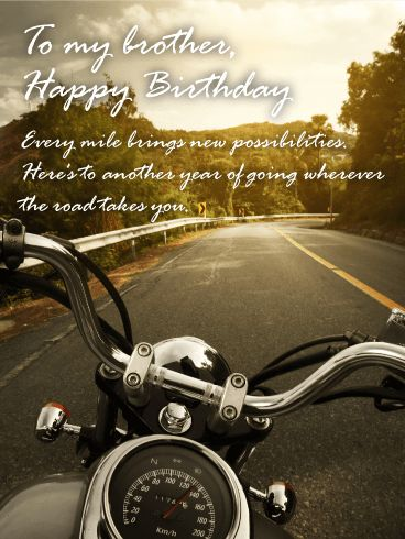 For a Great Journey - Happy Birthday Card for Brother