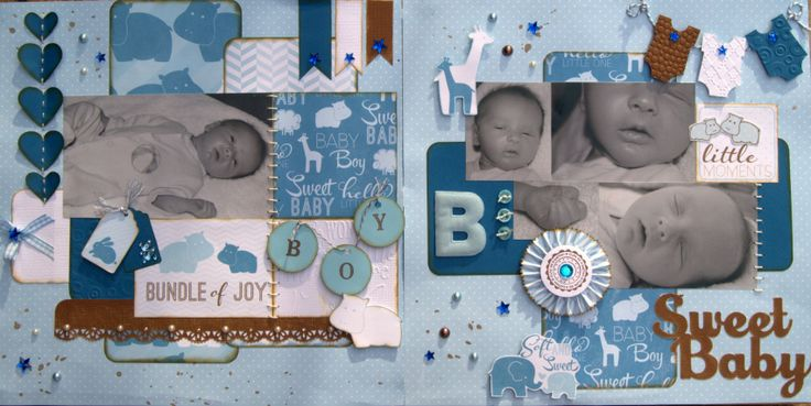 "A layout I did with the ""My Baby"" papers from Imaginisce"
