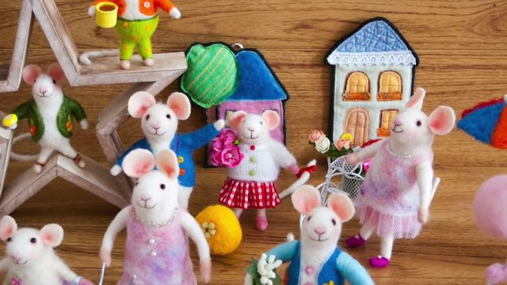 Needle felted mice by OllieStory, #Needlefeltedmouse, #Feltmouse