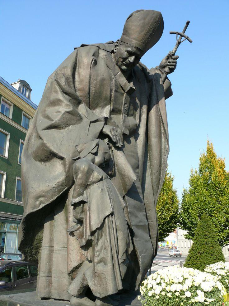 jan kucz, pomnik jana pawła II w kaliszu, 1999
