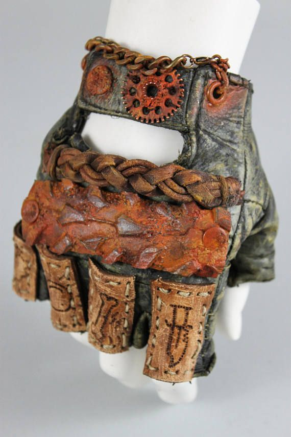 Mad Max Gloves – Post Apocalyptic Gloves – Leather Gloves – Leather – Biker – Armor – Tactical Gloves – Metal Gloves – Motorhead Inspired