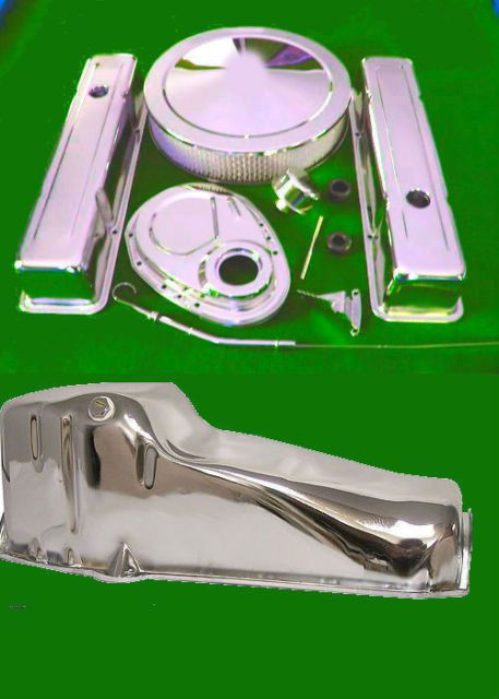 Sbc Small Block Chevy Chrome Dress Up Valve Covers Timing