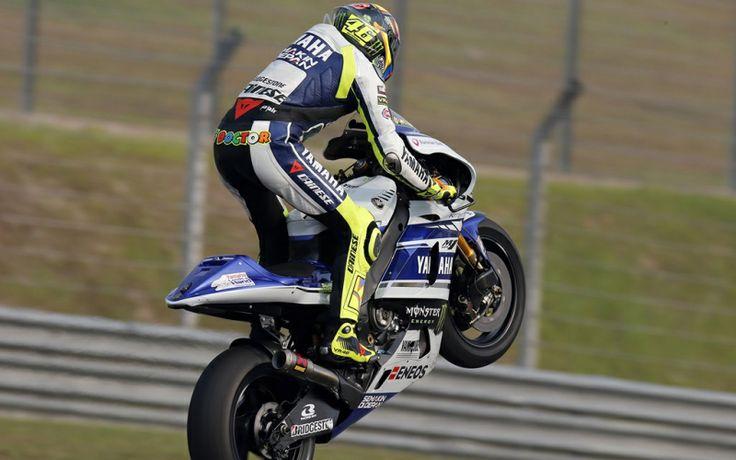 Valentino Rossi durante i test in Malesia 2014