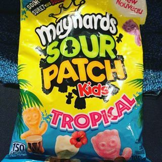 Thanks to @jackie93 for this picture of new Maynards Tropical Sour Patch Kids! #maynards #sourpatchkids #sour #candy #tropical #treat #snack #dessert #food #junkfood #foodporn #instafood #foodie #canada #flexibledieting #fitspo #macros #foodporn #instafit