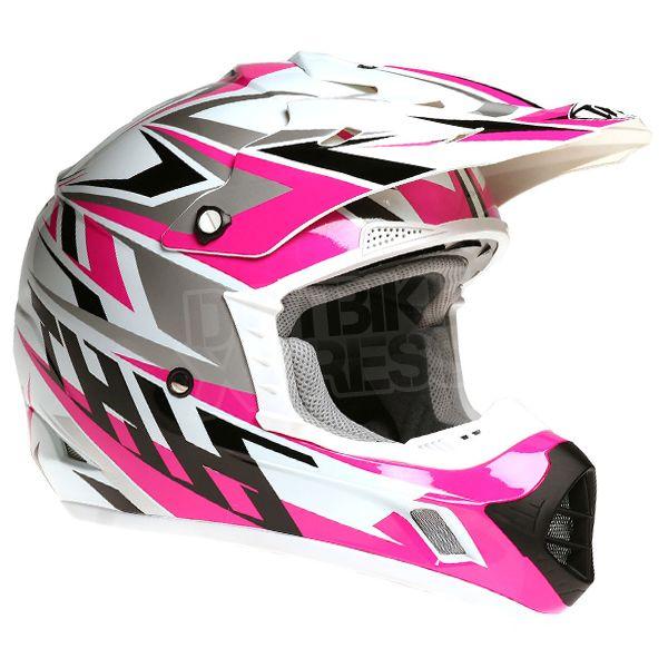 2015 THH TX-12 Helmet - Strike White Pink