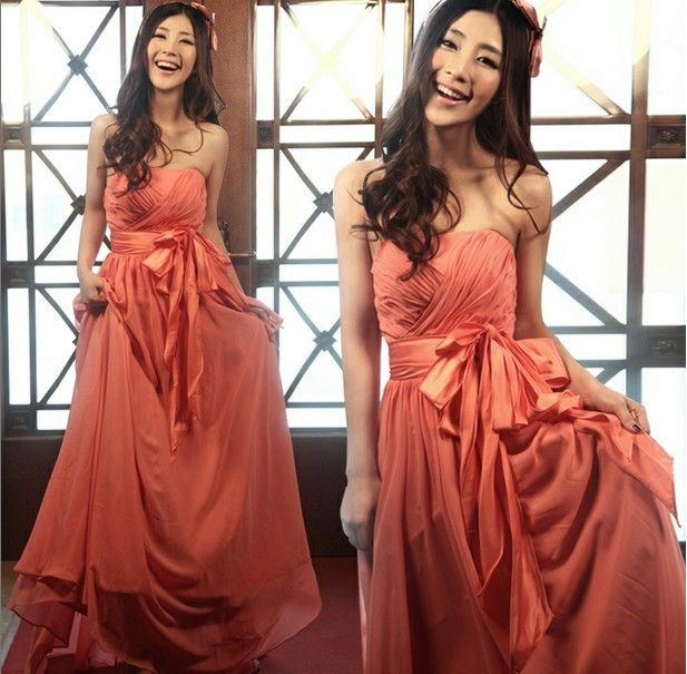 Hot Sale 2013 New Quality Sexy Brides Dresses Wholesale Pink Color Desinger Women's Long Evening Cheongsam Free Shipping S009 $38.94