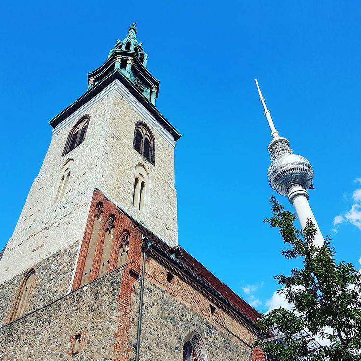 Convergence. #Berlin #Germany #Deutschland #travel #sky #blue #architecture #churchstagram #ichliebeberlin #iloveberlin #visit_berlin