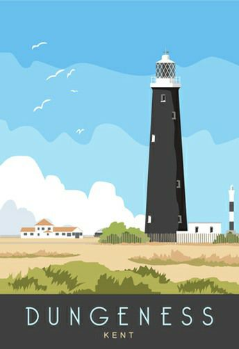 Available from www.whiteonesugar.co.uk starting at £12, Dungeness Lighthouse