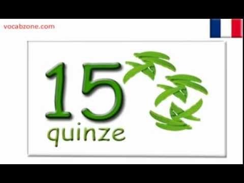 French numbers - nombres français 1 - 20