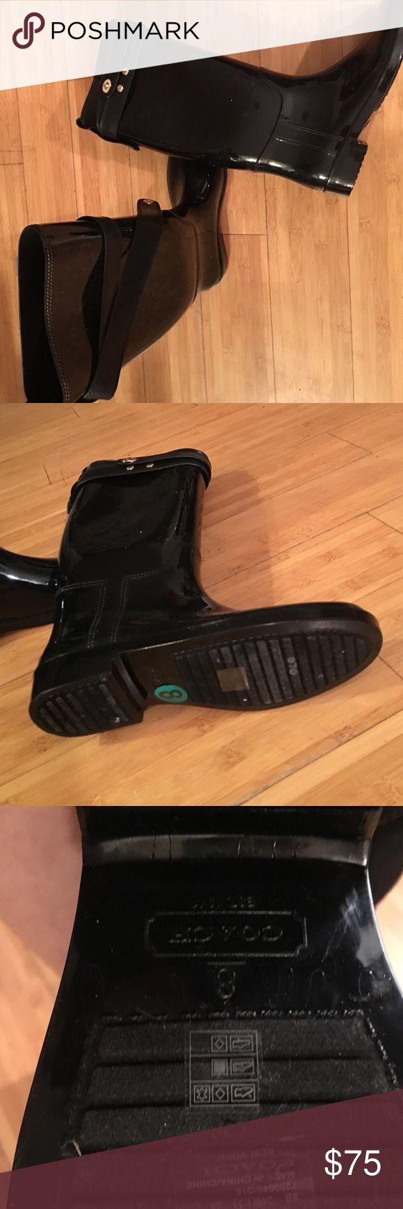 coach rain boots outlet xm56  Brand new coach rain boots Brand new black Coach Shoes Winter & Rain Boots