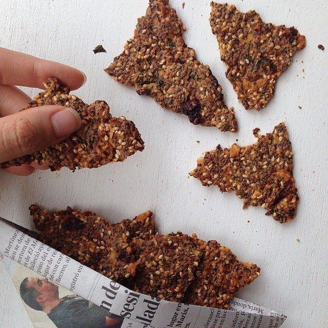 galletas de semillas sin harina