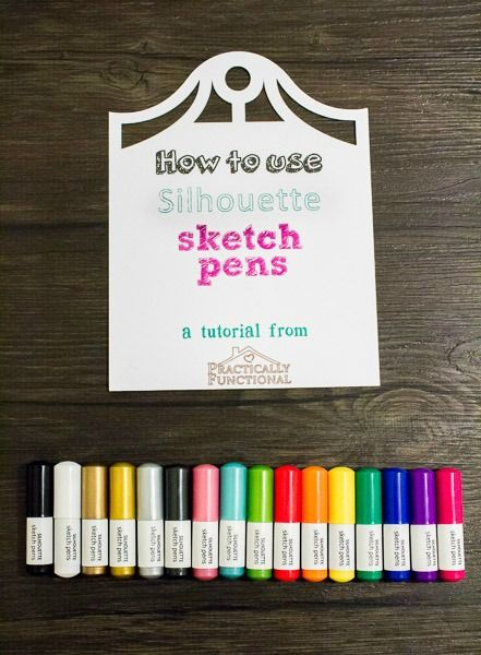 Learn how to use Silhouette sketch pens to draw with your Silhouette Cameo or Portrait. Excellent step by step tutorial with photos.