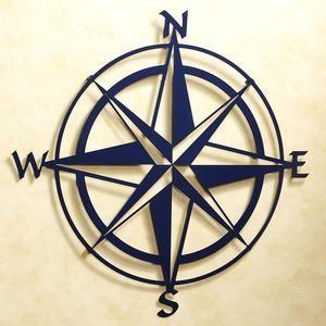 Compass Rose Wall Art for a Nautical Nursery