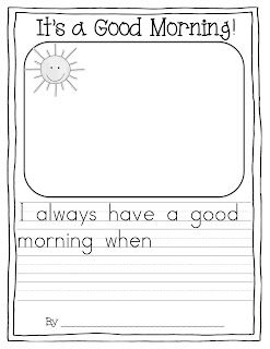 Good Morning Song and Writing FREEBIE!