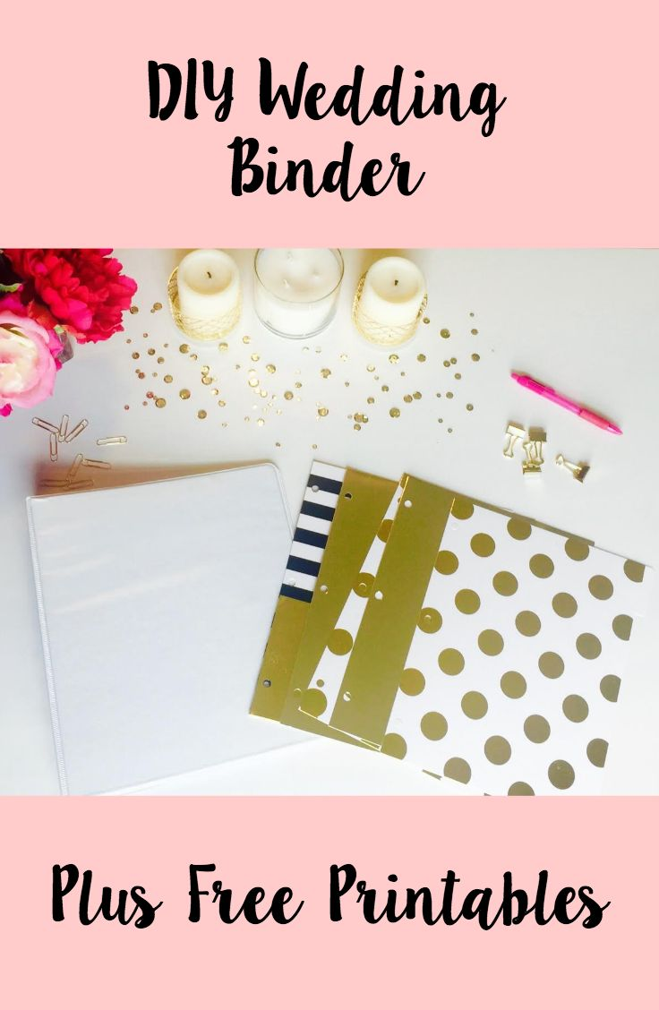 DIY Wedding Binder + Free Printables | Here Come The Culver\'s ...