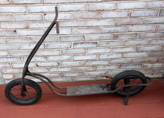 Vintage Kick Scooter by CarlisleVintage on Etsy